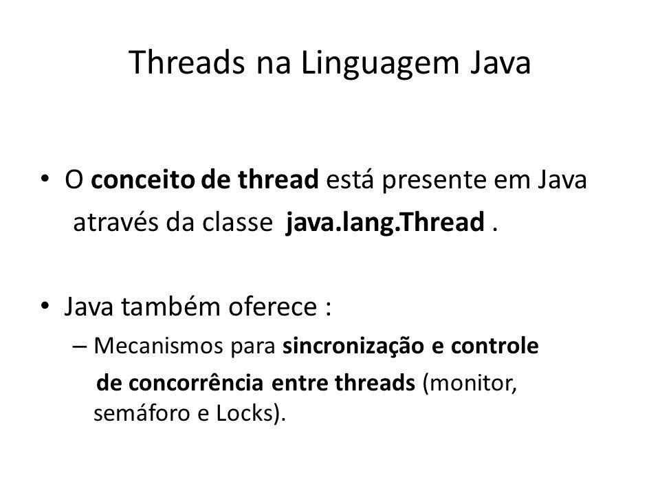 Threads na Linguagem Java