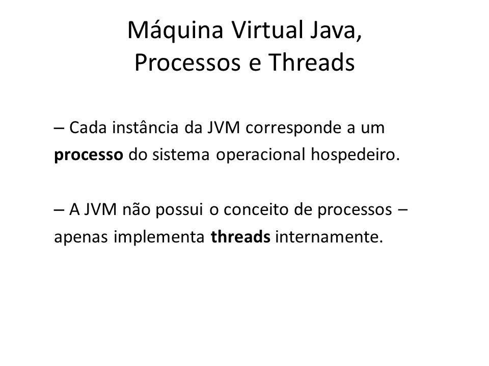 Máquina Virtual Java, Processos e Threads