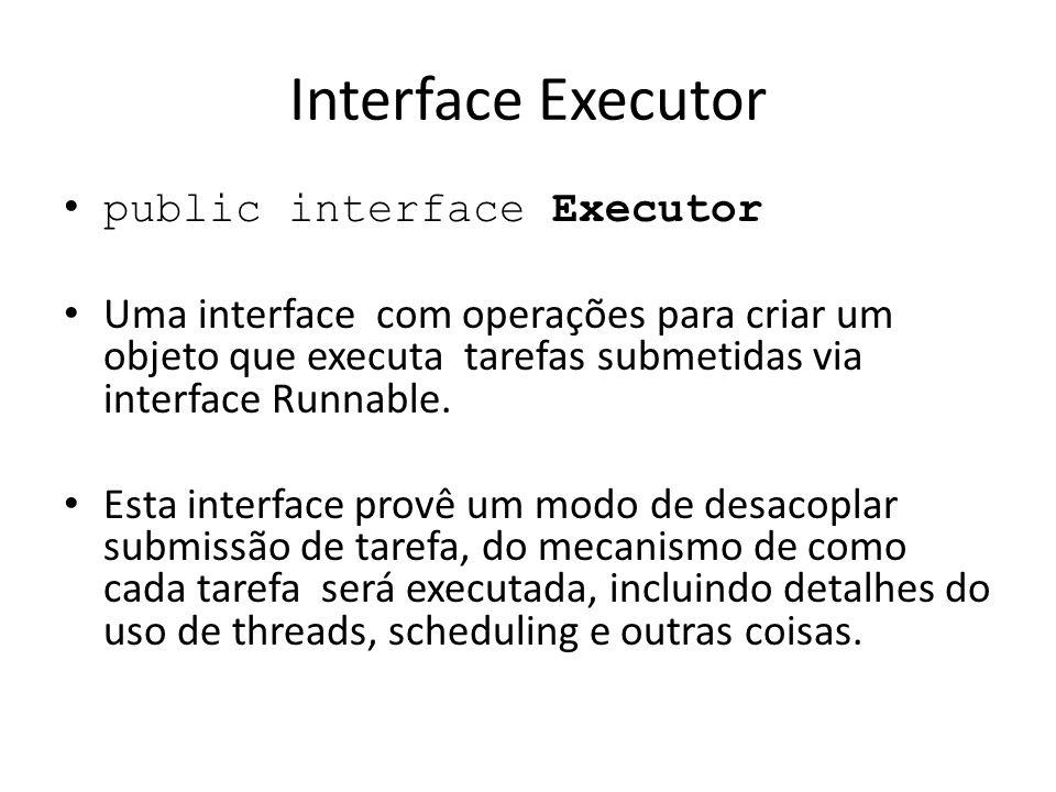 Interface Executor public interface Executor