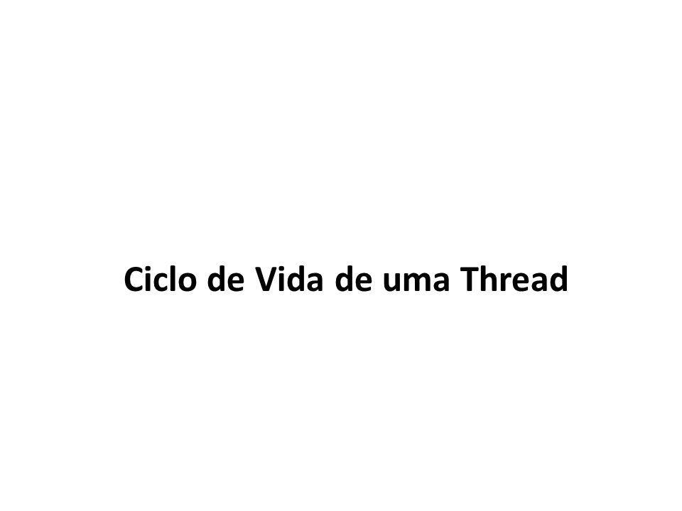 Ciclo de Vida de uma Thread
