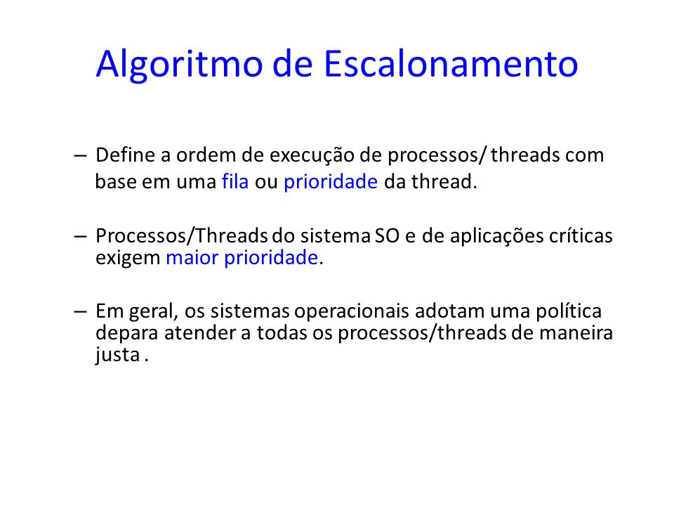 Algoritmo de Escalonamento