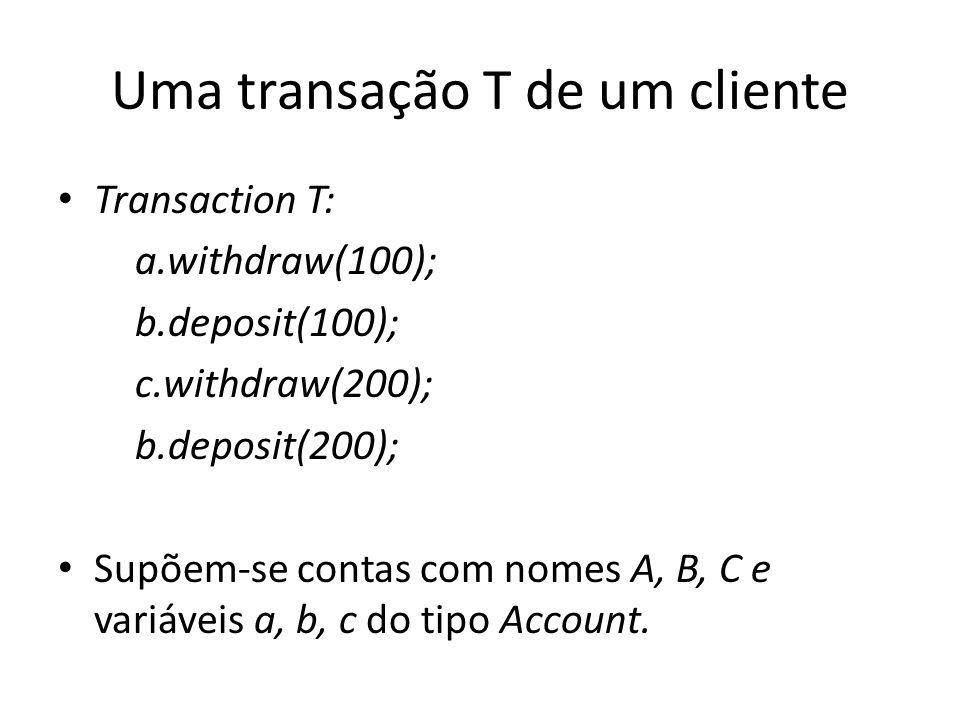 Uma transação T de um cliente