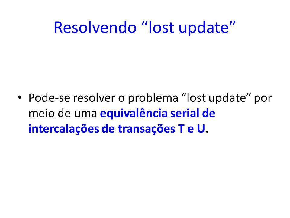 Resolvendo lost update