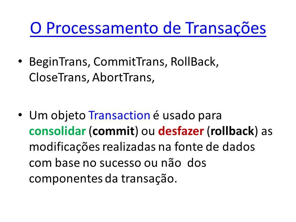 O Processamento de Transações