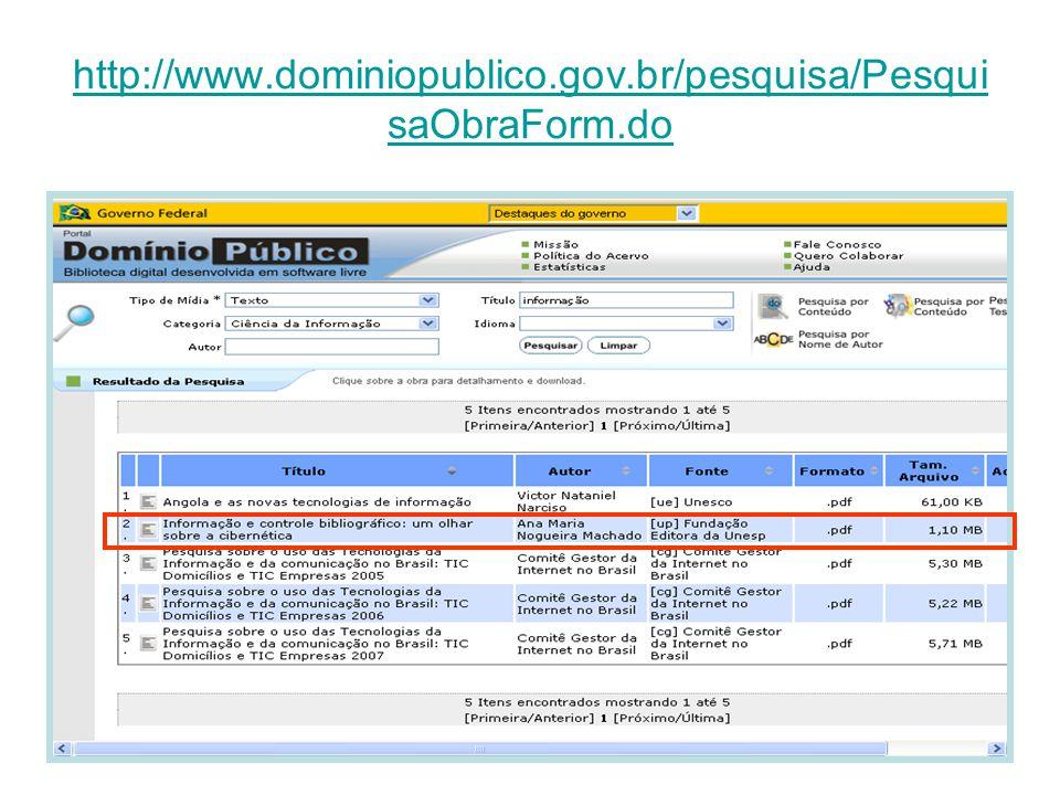 http://www.dominiopublico.gov.br/pesquisa/PesquisaObraForm.do