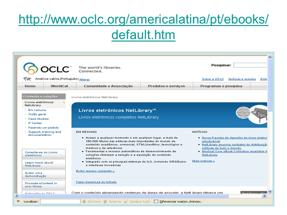 http://www.oclc.org/americalatina/pt/ebooks/default.htm