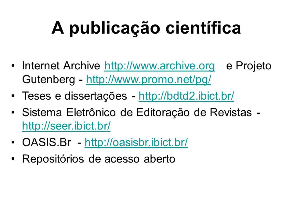 A publicação científica