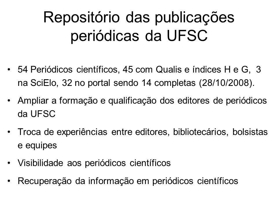 Repositório das publicações periódicas da UFSC
