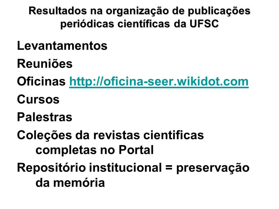 Oficinas http://oficina-seer.wikidot.com Cursos Palestras