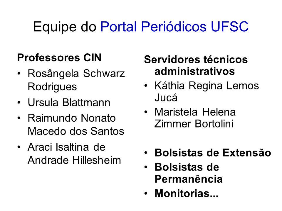 Equipe do Portal Periódicos UFSC