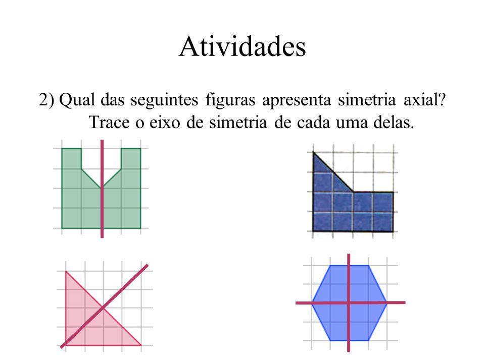 Atividades 2) Qual das seguintes figuras apresenta simetria axial.