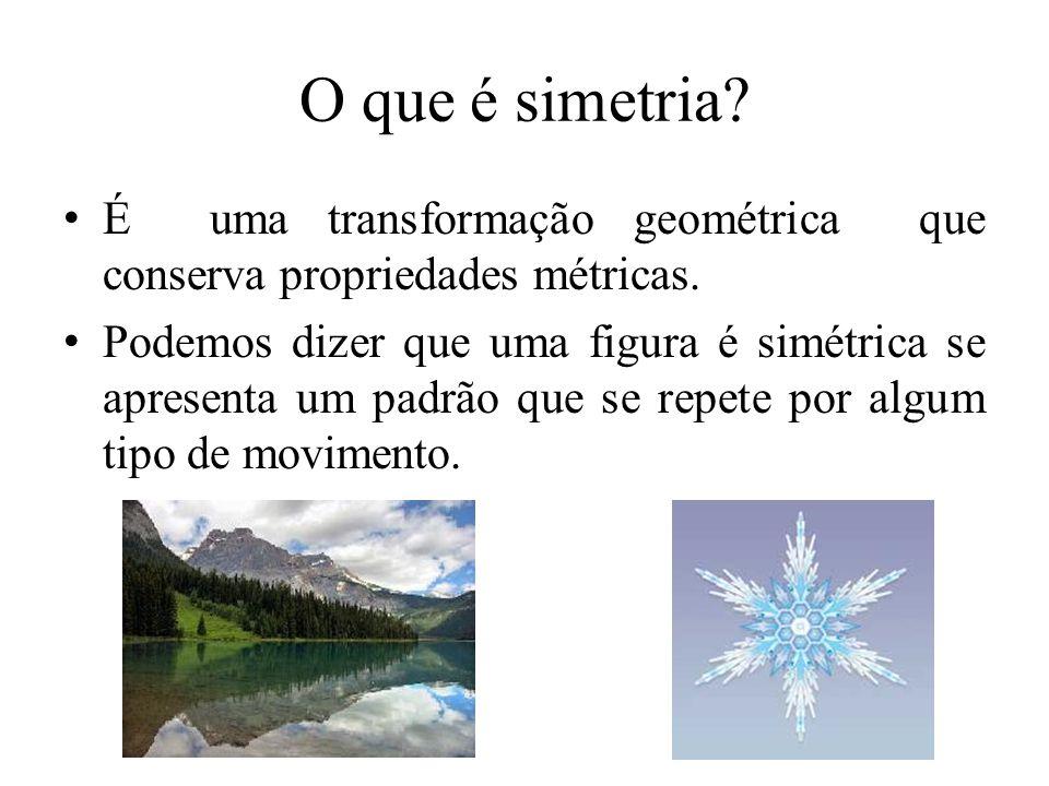 O que é simetria É uma transformação geométrica que conserva propriedades métricas.
