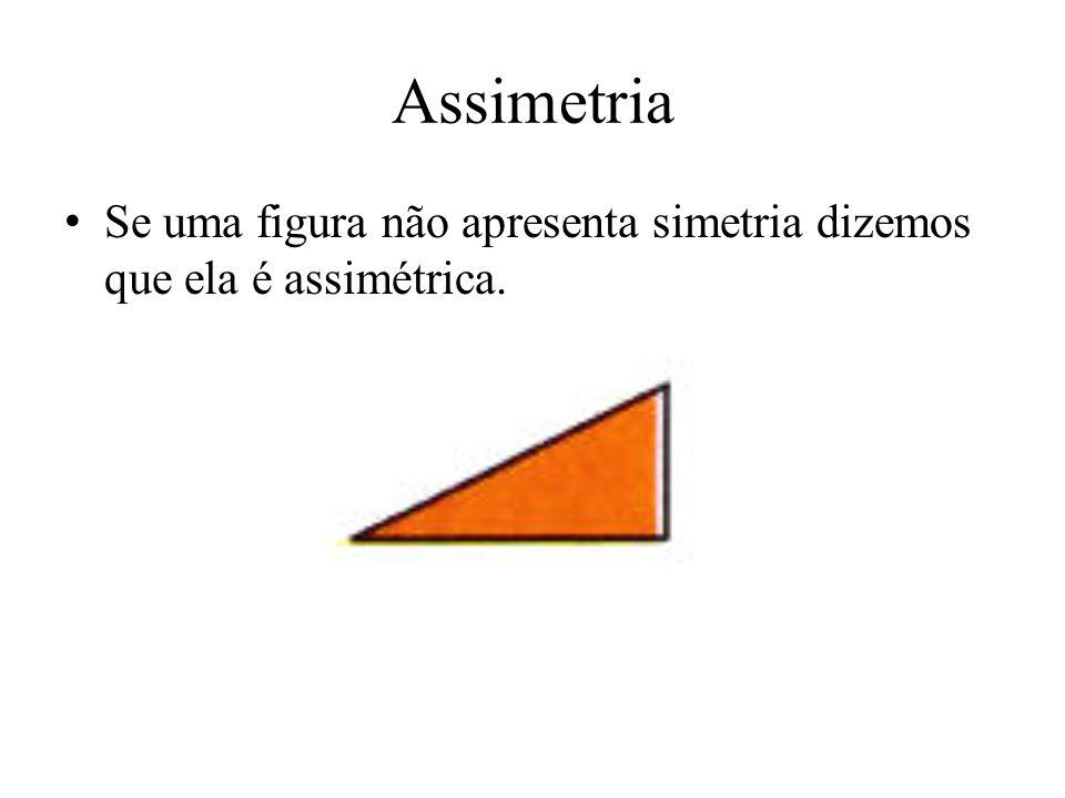 Assimetria Se uma figura não apresenta simetria dizemos que ela é assimétrica.