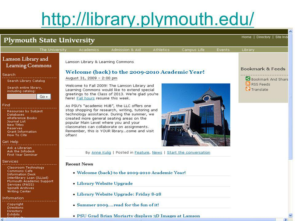 http://library.plymouth.edu/
