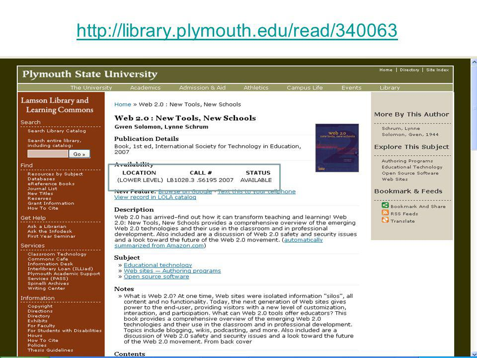 http://library.plymouth.edu/read/340063