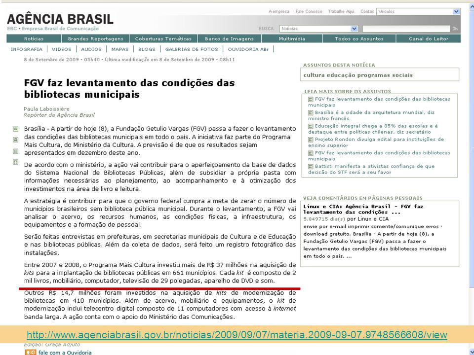 http://www. agenciabrasil. gov. br/noticias/2009/09/07/materia