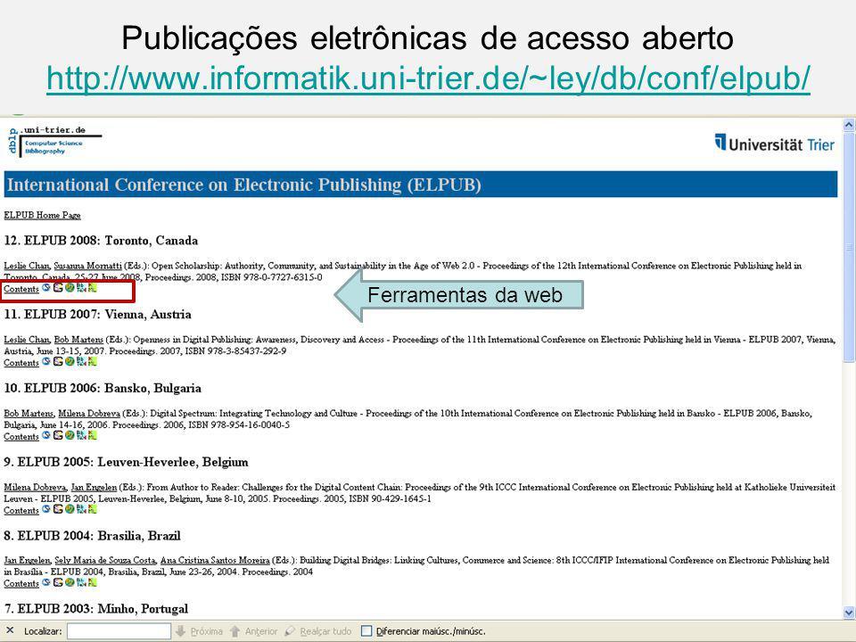 Publicações eletrônicas de acesso aberto http://www. informatik