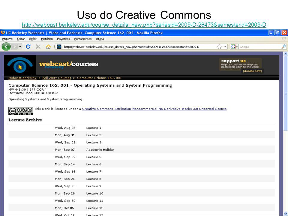 Uso do Creative Commons http://webcast. berkeley