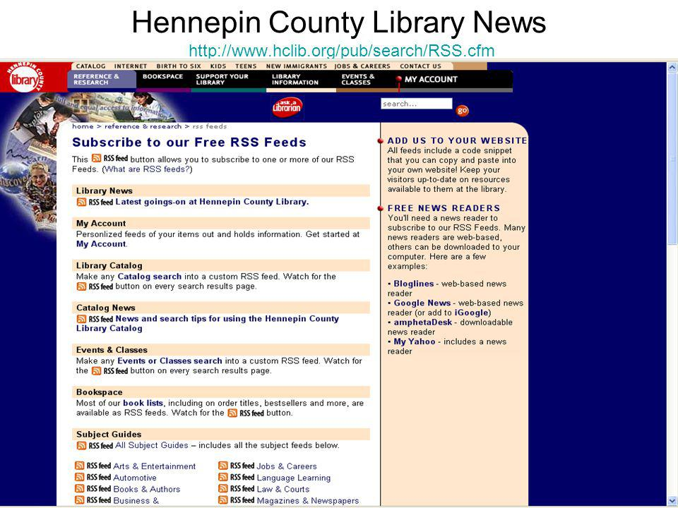 Hennepin County Library News http://www.hclib.org/pub/search/RSS.cfm