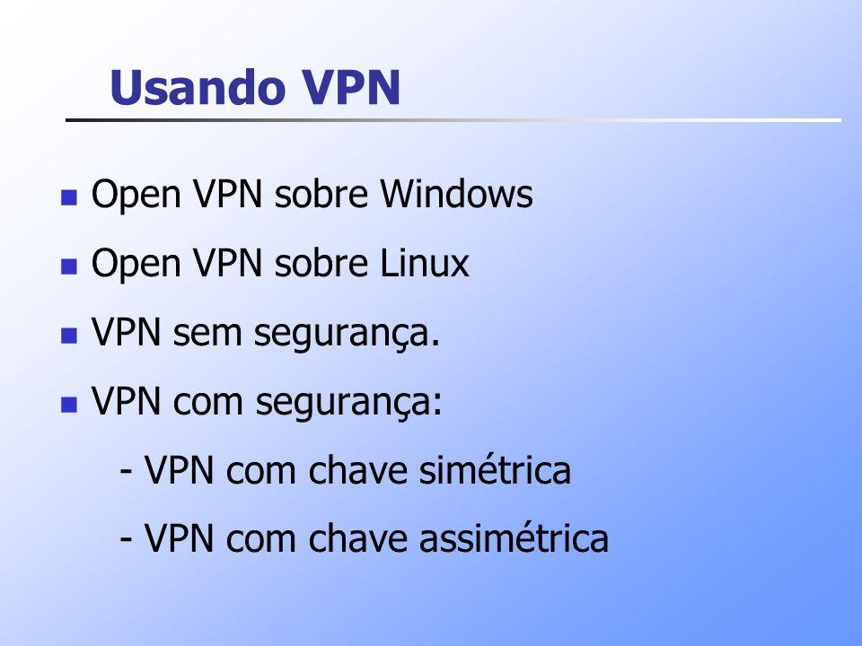 Usando VPN Open VPN sobre Windows Open VPN sobre Linux