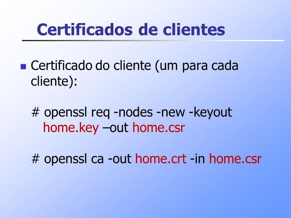 Certificados de clientes