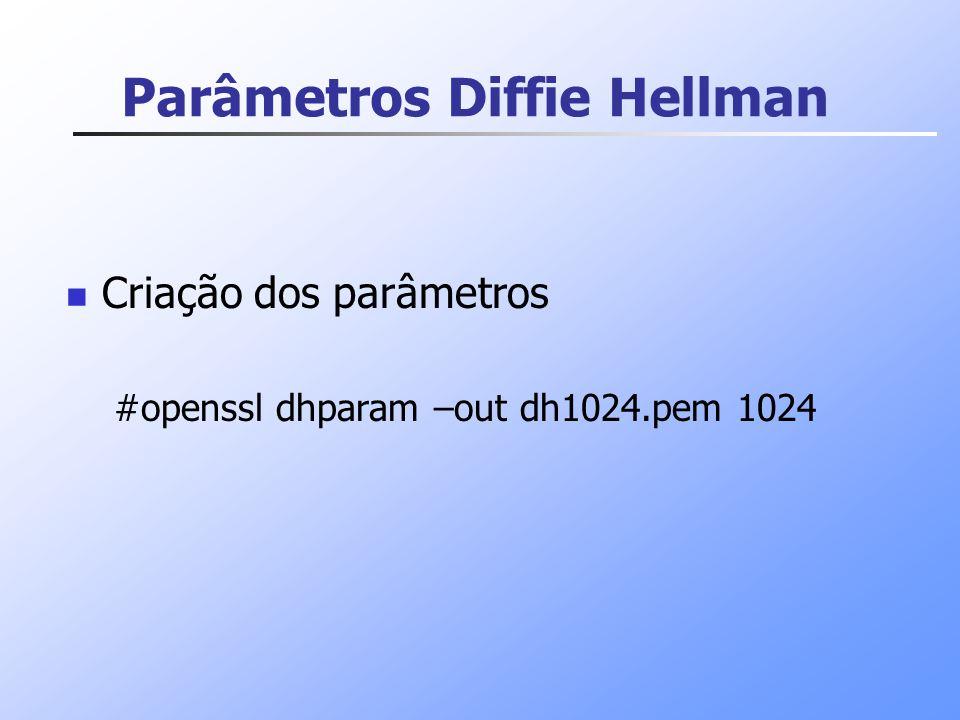 Parâmetros Diffie Hellman