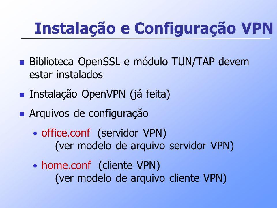 Instalação e Configuração VPN