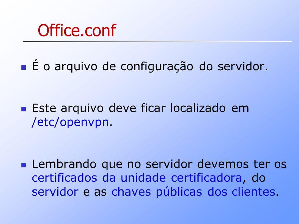 Office.conf É o arquivo de configuração do servidor.