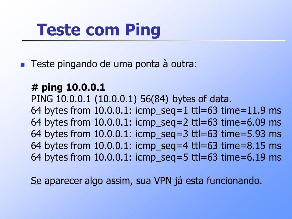 Teste com Ping