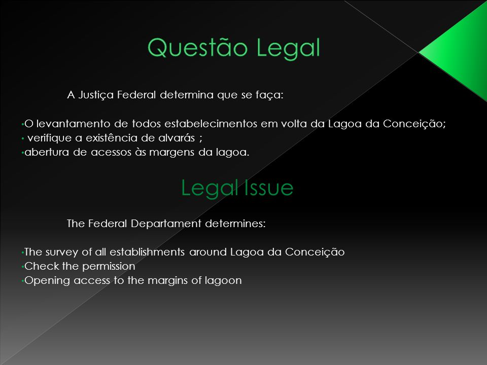 Questão Legal Legal Issue