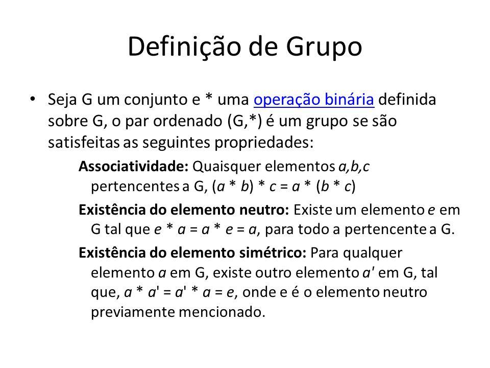 Definição de Grupo
