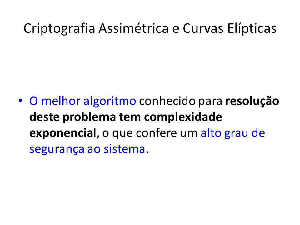 Criptografia Assimétrica e Curvas Elípticas
