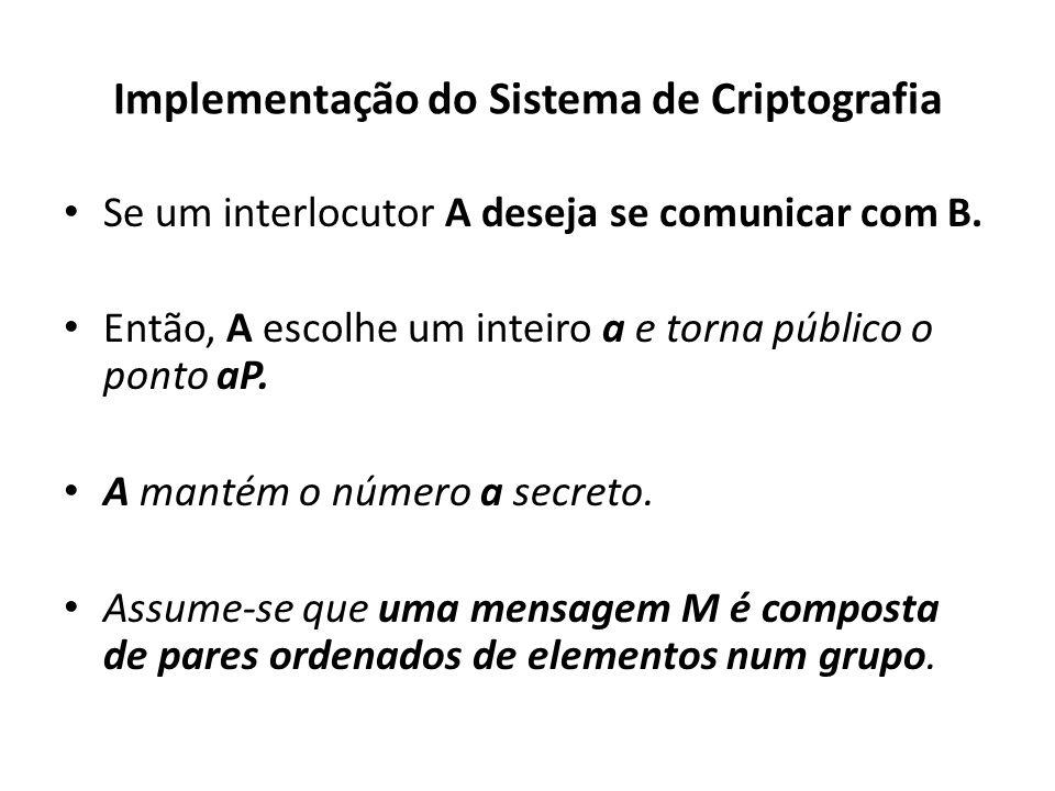 Implementação do Sistema de Criptografia
