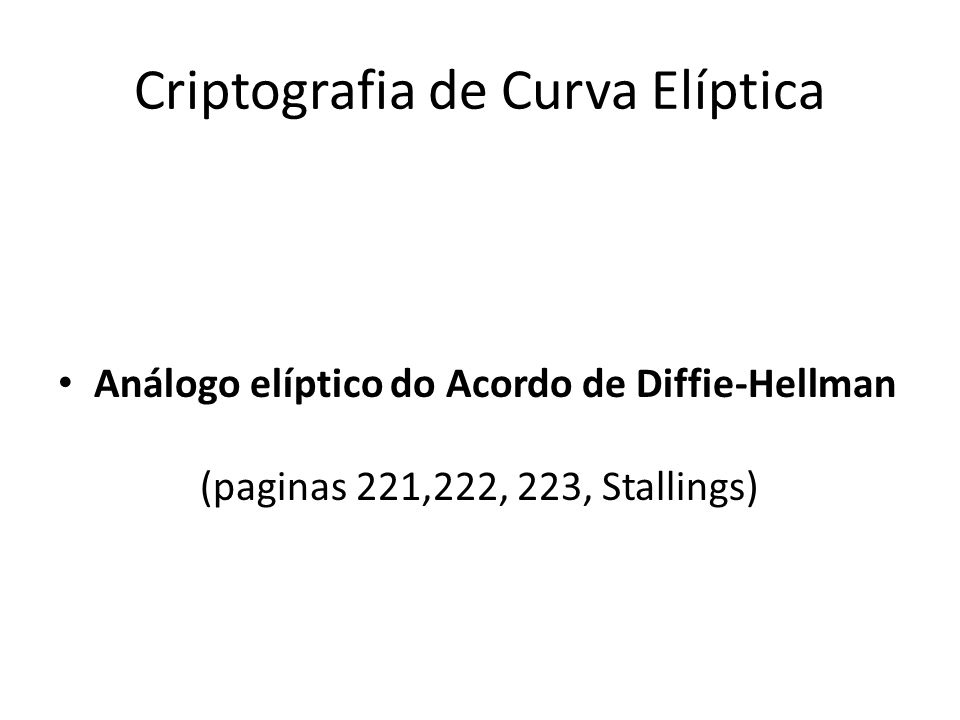 Criptografia de Curva Elíptica