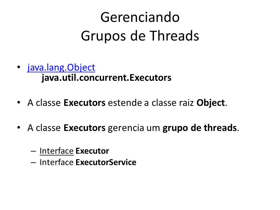 Gerenciando Grupos de Threads