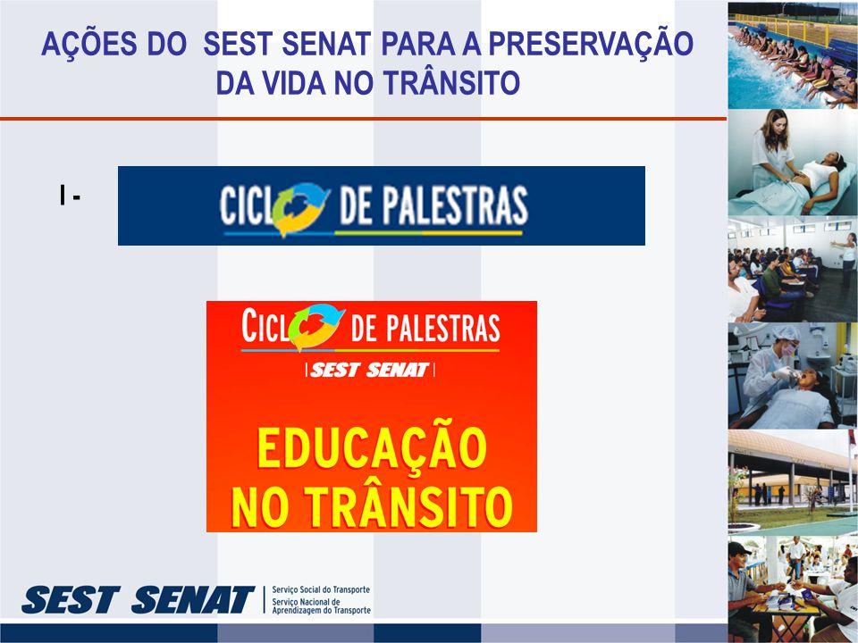 AÇÕES DO SEST SENAT PARA A PRESERVAÇÃO DA VIDA NO TRÂNSITO