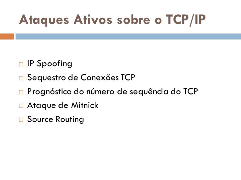 Ataques Ativos sobre o TCP/IP