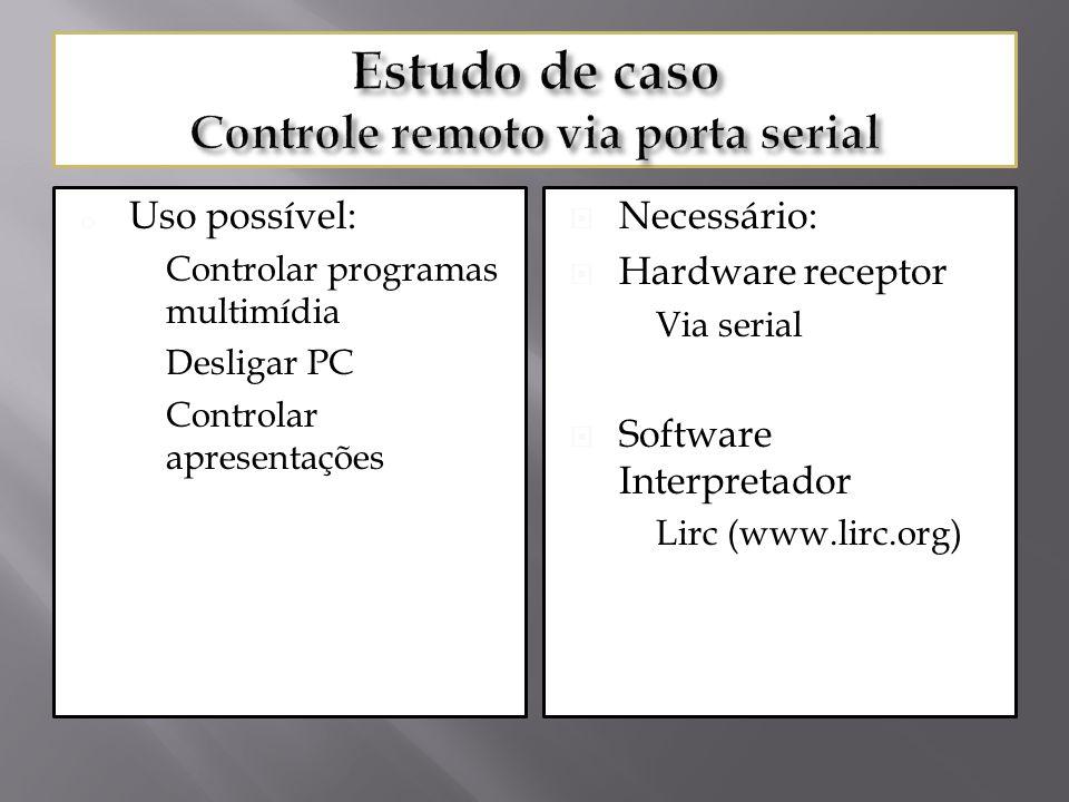 Estudo de caso Controle remoto via porta serial
