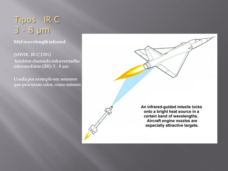 Tipos IR-C 3 - 8 µm Mid-wavelength infrared (MWIR, IR-C DIN)