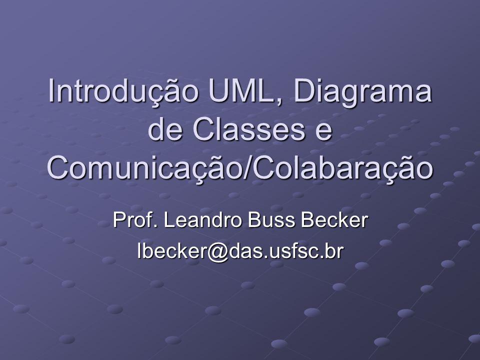 Introdução UML, Diagrama de Classes e Comunicação/Colabaração