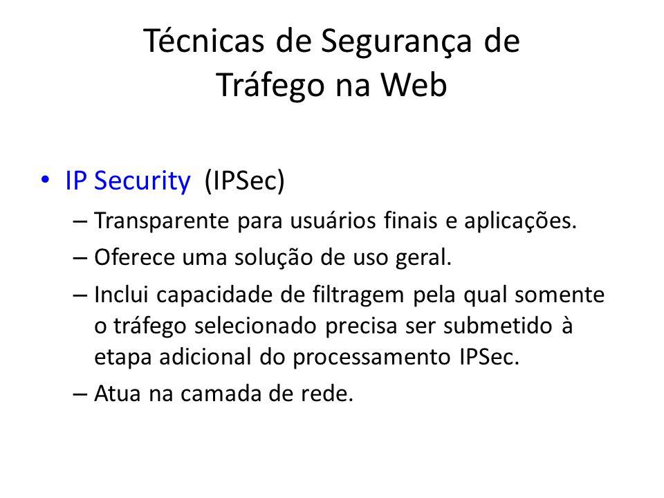 Técnicas de Segurança de Tráfego na Web
