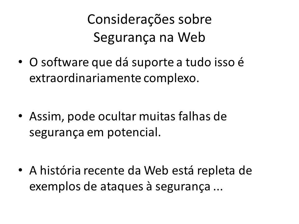 Considerações sobre Segurança na Web