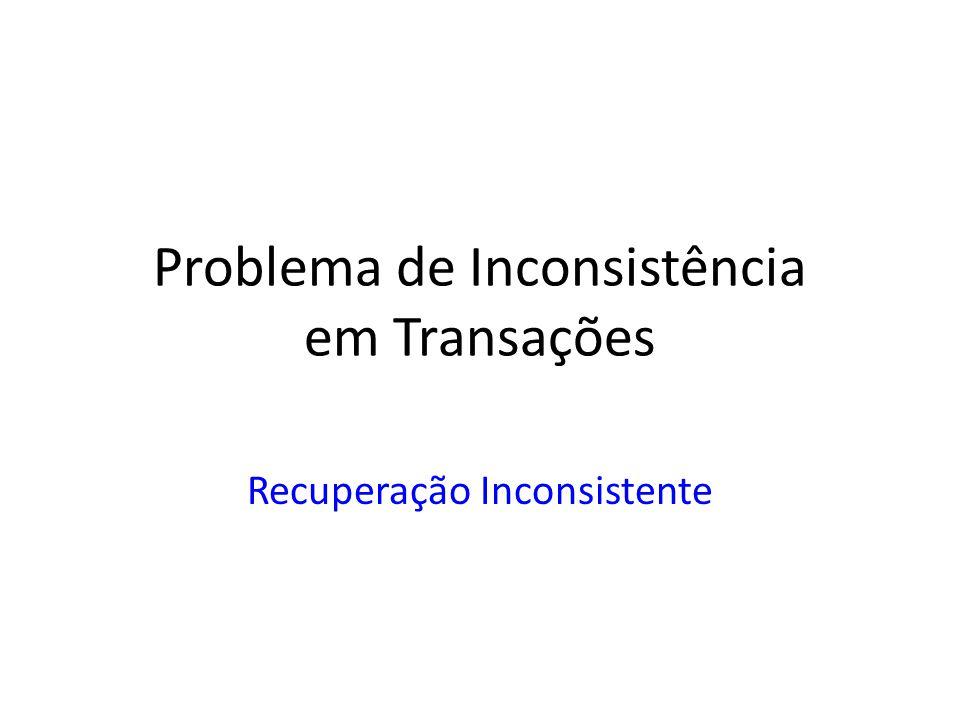 Problema de Inconsistência em Transações