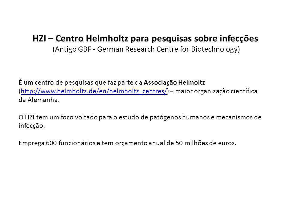 HZI – Centro Helmholtz para pesquisas sobre infecções (Antigo GBF - German Research Centre for Biotechnology)
