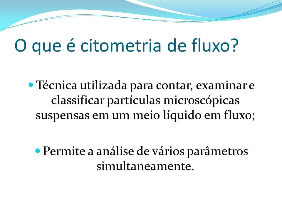 O que é citometria de fluxo