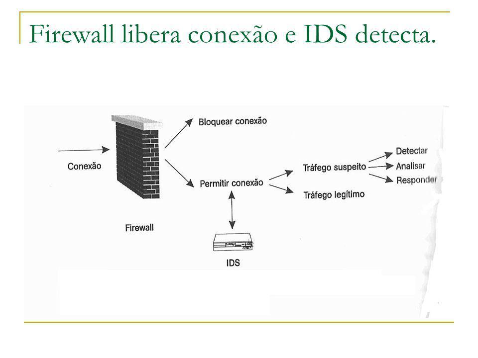 Firewall libera conexão e IDS detecta.
