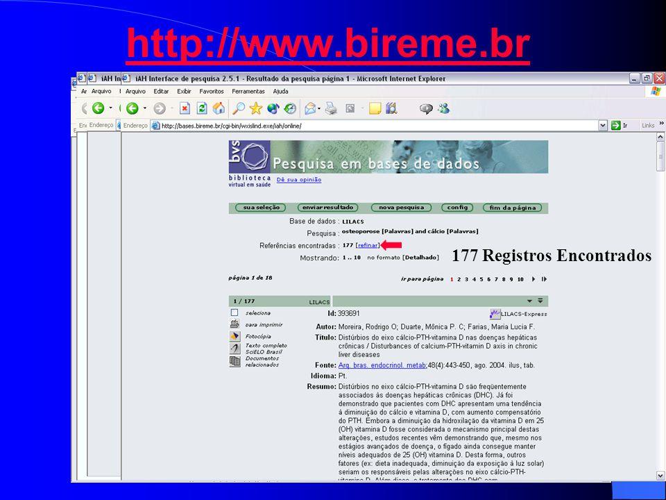 http://www.bireme.br 177 Registros Encontrados