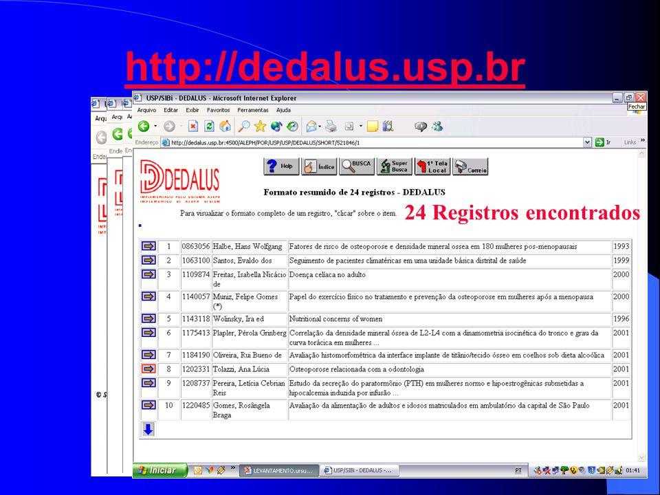 http://dedalus.usp.br 24 Registros encontrados