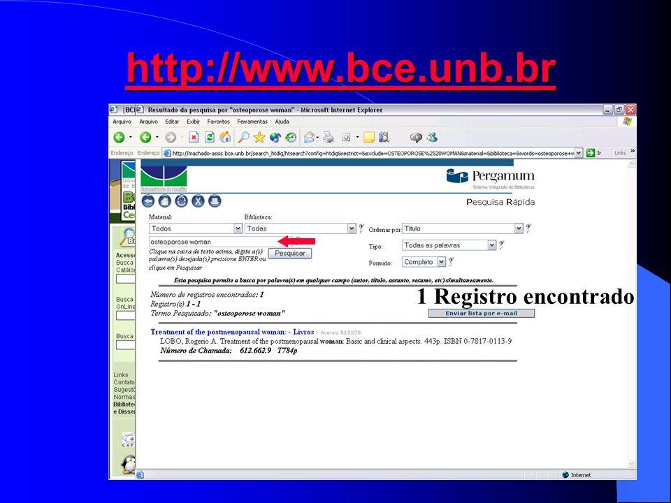 http://www.bce.unb.br 1 Registro encontrado