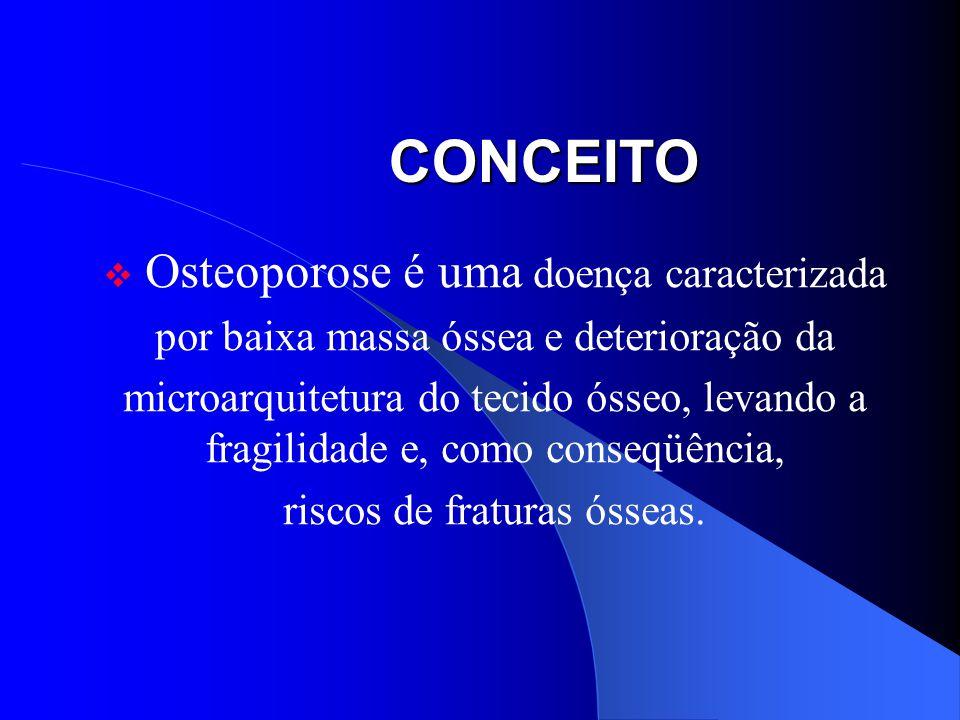 CONCEITO Osteoporose é uma doença caracterizada